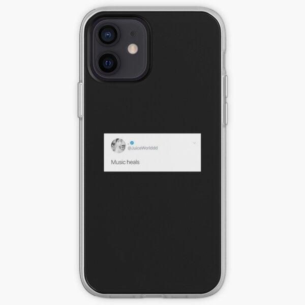 Juice wrld tweet, music heals iPhone Soft Case