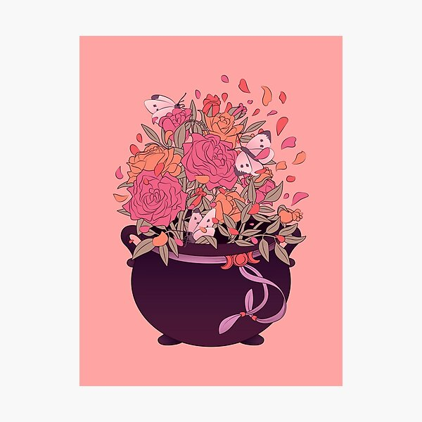 Crafty Witch: Cauldron Photographic Print