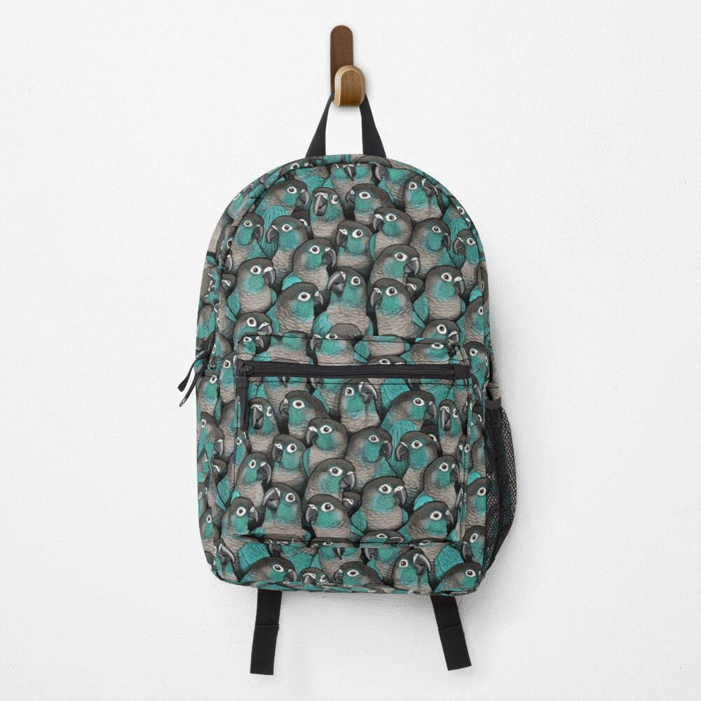 Turquoise Green-Cheeked Conures Backpack
