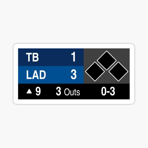 LA Baseball Championship, Los Angeles Champions 2020, Los Doyers, Blue Crew Sticker