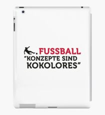 Football Quotes: concepts are tosh! iPad Case/Skin