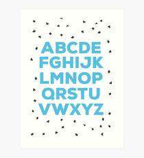 Alphabet (blue) Art Print