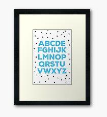 Alphabet (blue) Framed Print