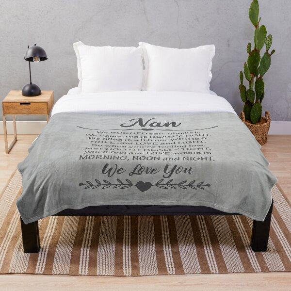 Nan blanket - grey Nan blanket - cute Nan blanket - fun Nan blanket Throw Blanket