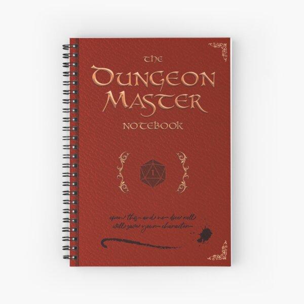 The Dungeon Master Notebook (Red) Spiral Notebook
