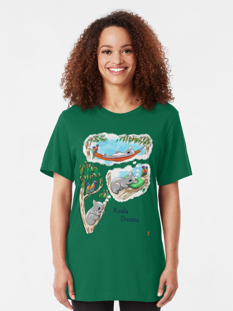 Alternate view of What do Koalas dream about? Slim Fit T-Shirt