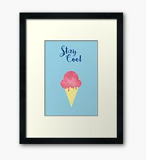 Stay Cool (watercolour) Framed Print