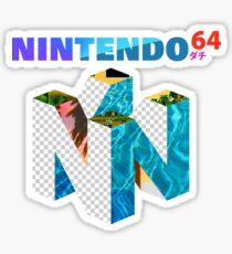 Vaporwave Nintendo 64 Sticker