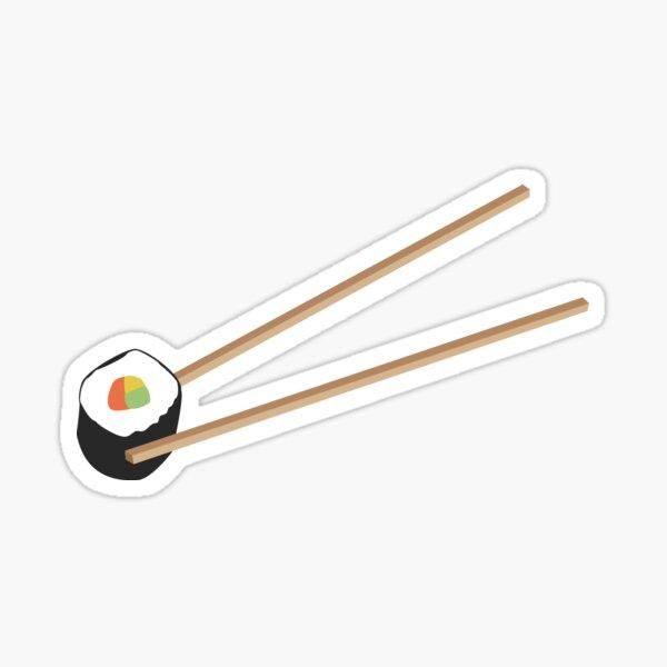 Sushi rolls with chopsticks Sticker