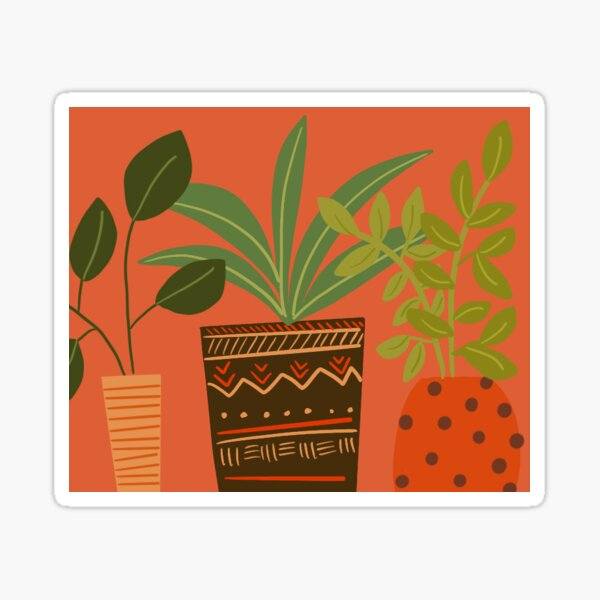 Boho Plants  Sticker