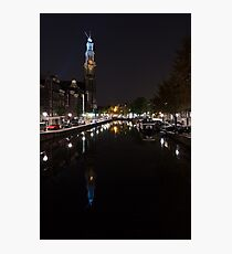Magical Amsterdam Night - Blue Crown Skyline Photographic Print