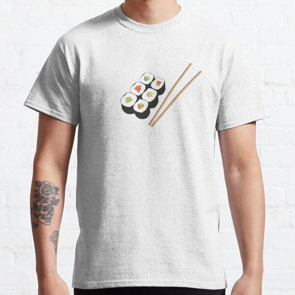 Sushi rolls with chopsticks Classic T-Shirt
