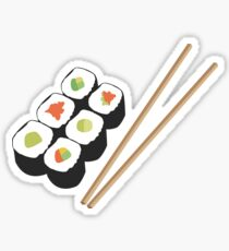 Sushi rolls with chopsticks Sticker