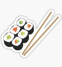 Sushirollen mit Essstäbchen Sticker