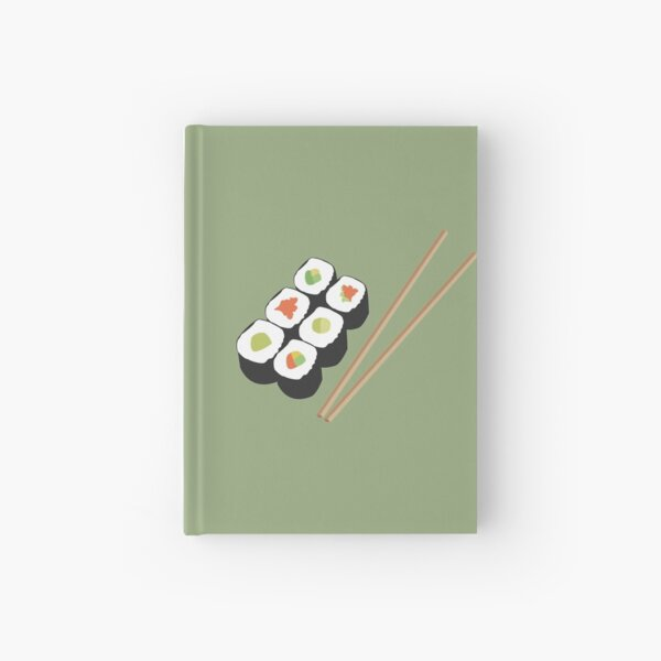 Sushi rolls with chopsticks Hardcover Journal