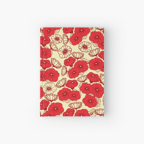 Red Poppies Hardcover Journal