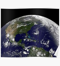 Tropical storms on planet Earth. Poster