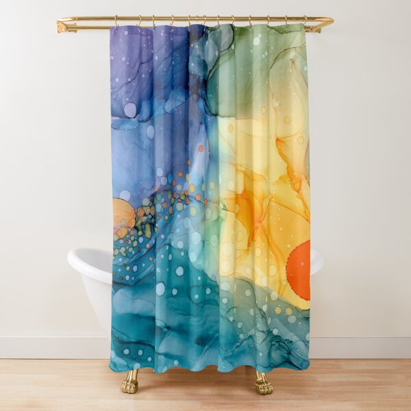 Sunrise Sunset Abstract Shower Curtain
