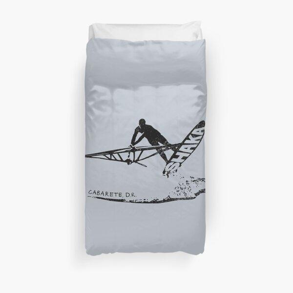 Windsurfing Freestyle Jump Shaka, Cabarete DR, Dominican Republic Duvet Cover
