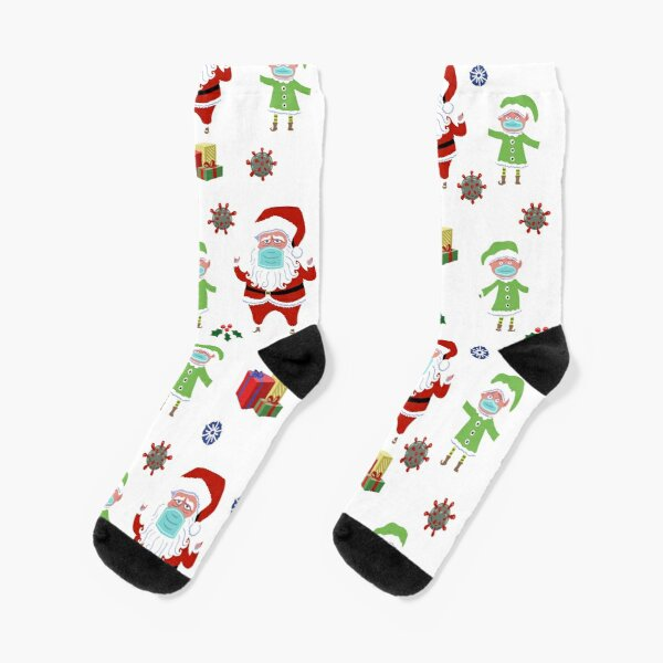 Covid Christmas  Socks