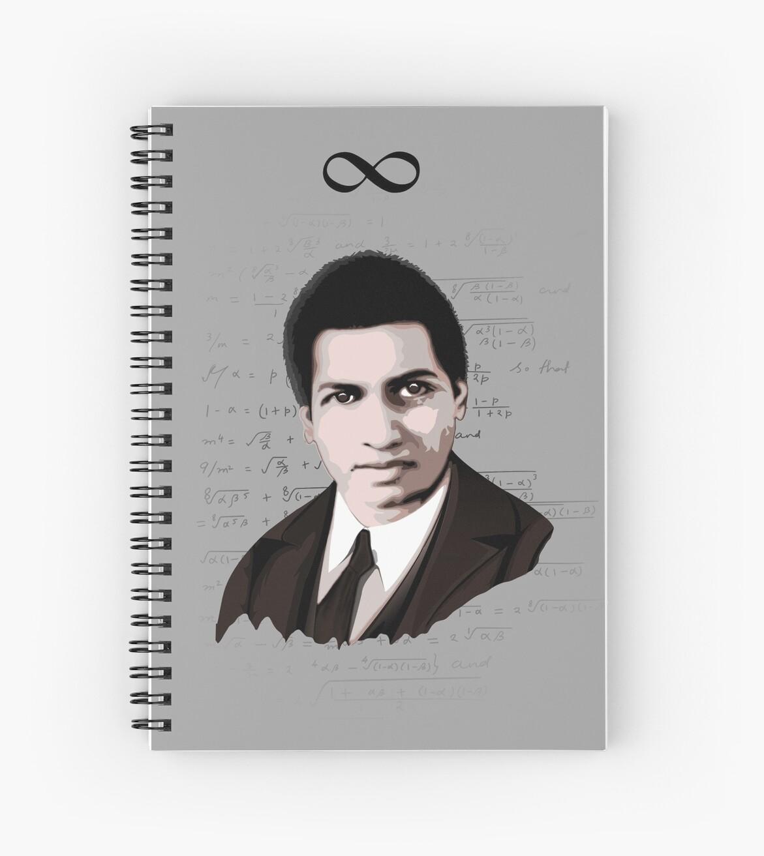 Srinivasa ramanujan spiral notebook by hereticwear