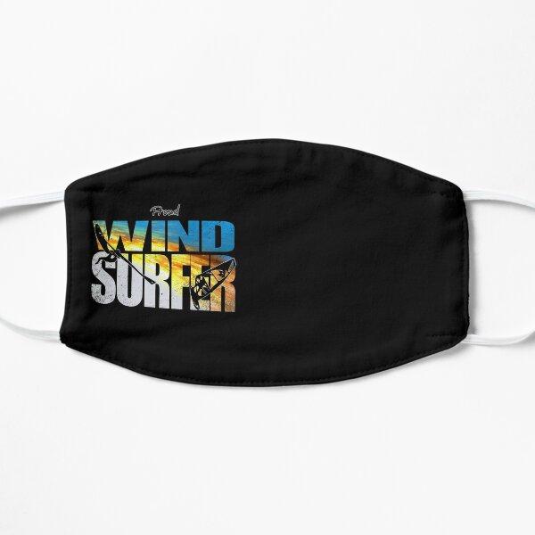 Proud Windsurfer Jumping Sunset Colors over Ocean Waves Mask