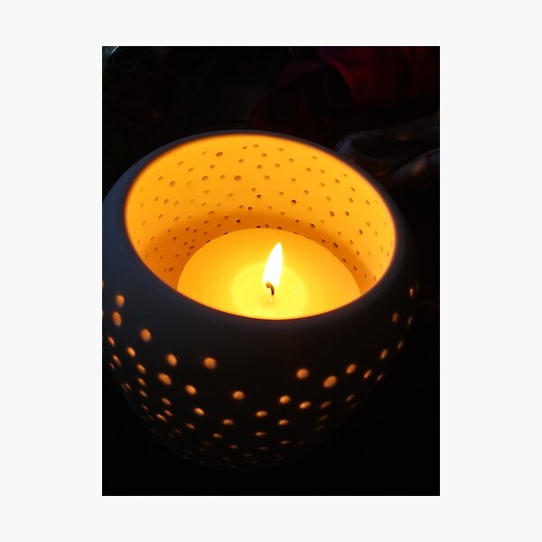 Candle in Dark Photographic Print