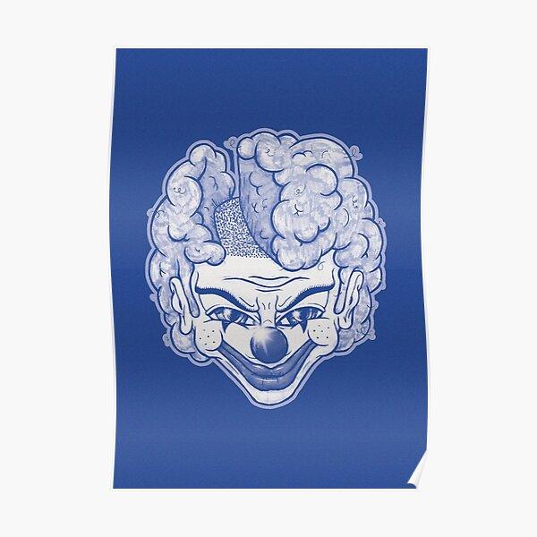Maniac Clown (blau) Poster