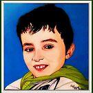 """Everyone tells me, RA"" portrait canvas by Font  Rodica-Luminita"
