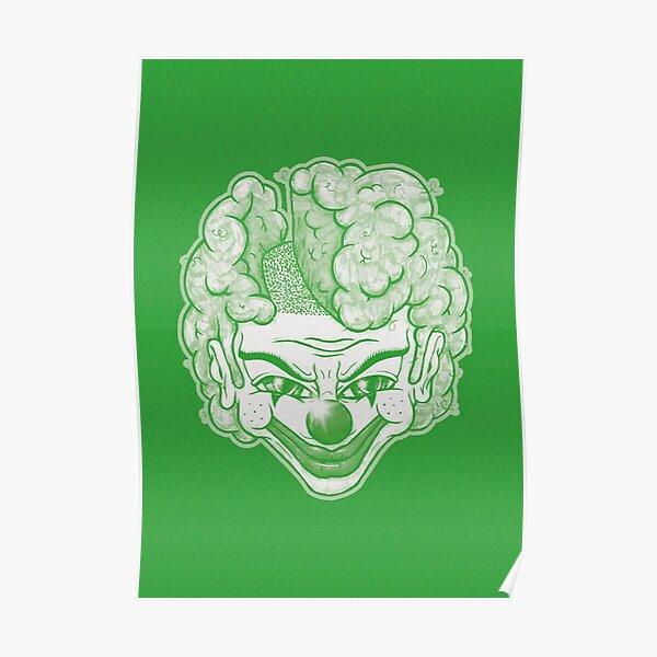 Maniac Clown (grün) Poster
