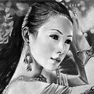 """Life is a battle but not a war"".... portrait of Chinese actress Zhang Ziyi by Font  Rodica-Luminita"