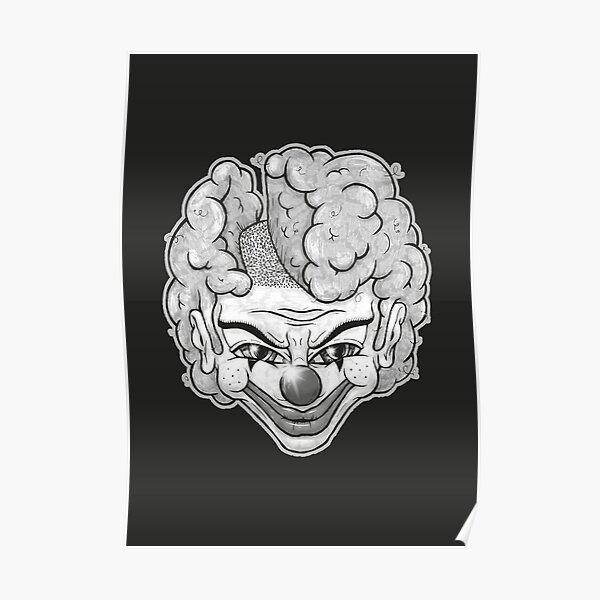 Maniac Clown (schwarz) Poster