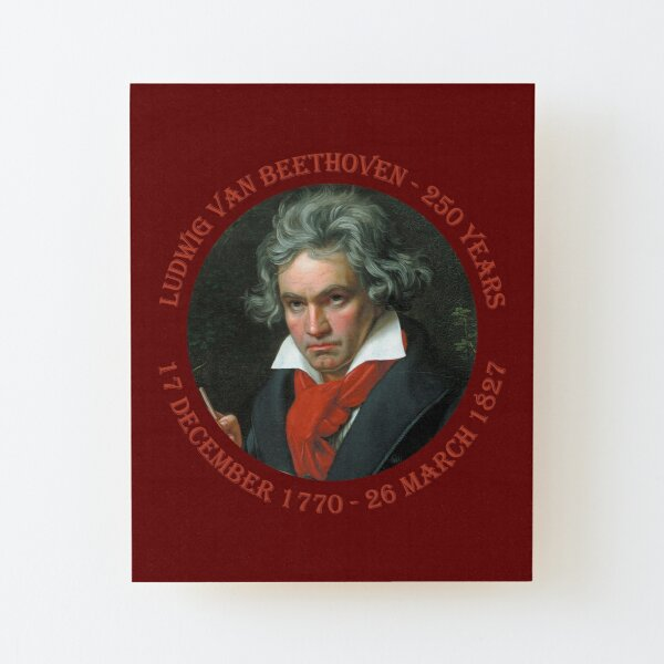 250th anniversary of the birth of composer Ludwig van Beethoven  Wood Mounted Print