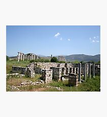 The Courtyard Of The Bishops Palace Aphrodisias Turkey Photographic Print
