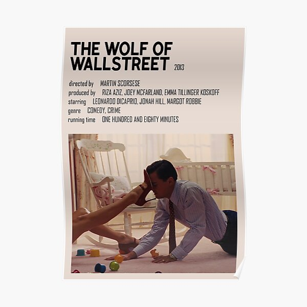Póster El lobo de Wallstreet minimalista Póster