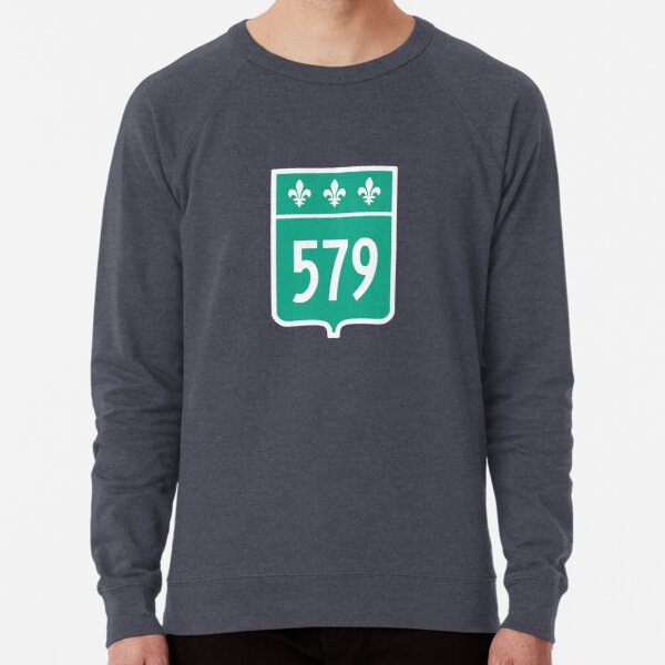 Quebec Provincial Highway 579 (Area Code 579) Lightweight Sweatshirt