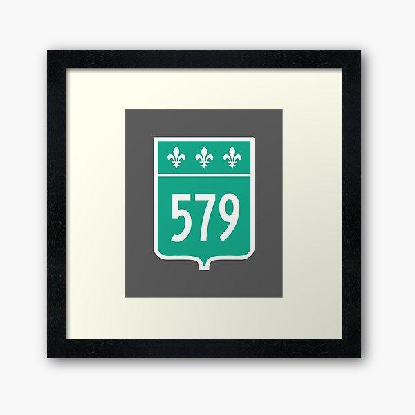 Quebec Provincial Highway 579 (Area Code 579) Framed Art Print