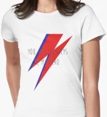 DAVID BOWIE HERO Womens Fitted T-Shirt