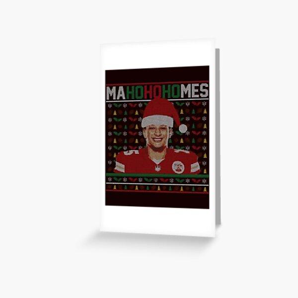 Patrick Mahomes Ugly Christmas Greeting Card