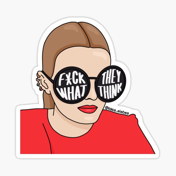 What they think by Sasa Elebea Sticker