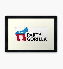 Political Party Animals: Gorilla Framed Print