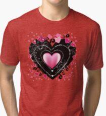 I Love You - Hearts Tri-blend T-Shirt