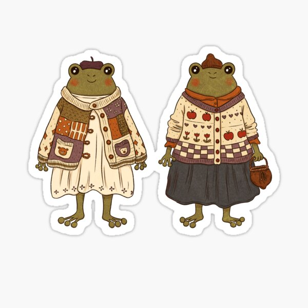 Frog Fashion is What I Dream About at Night Sticker