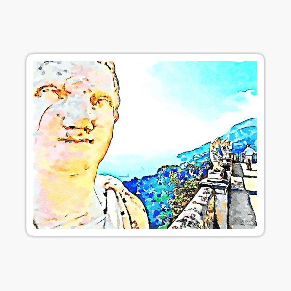 Ravello: busts on the balcony of Villa Cimbrone Sticker
