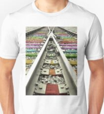 Rainbow Train Track  T-Shirt