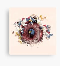 Nesting - Another Bird Has Found It's Nest Canvas Print