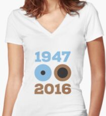 Celebrity Rock Star Death Tribute 1947-2016 Women's Fitted V-Neck T-Shirt