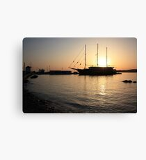 Mediterranean Sunset Canvas Print