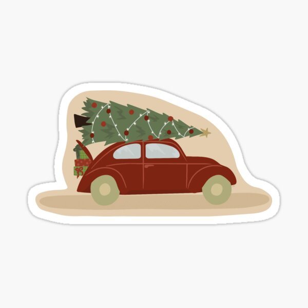 I'll Be Home for Christmas Glossy Sticker
