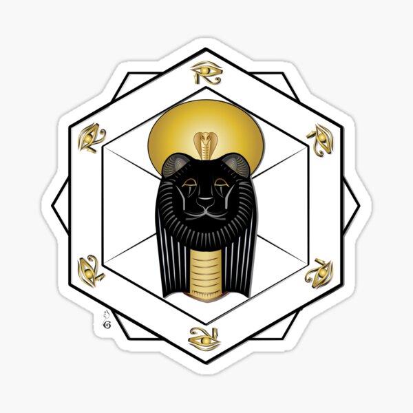 Golden Sekhmet Sticker